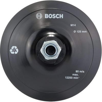 Тарелка опорная BOSCH 2608601077 на липучке 125мм для УШМ тарелка опорная bosch 125мм средняя для рех 2 608 601 062