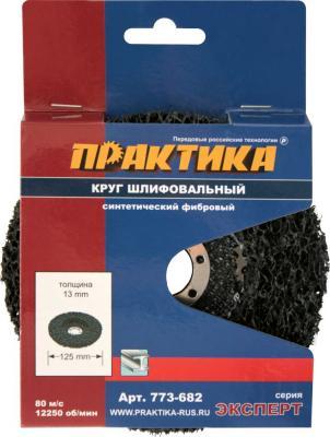 Круг фибровый ПРАКТИКА 773-682 шлифовальный, 125x22мм, для УШМ