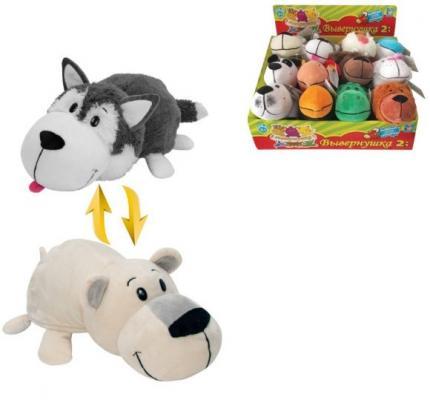 Фото - Мягкая игрушка Вывернушка 20 см 2в1 Хаски-Полярный медведь мягкая игрушка вывернушка 1toy хаски полярный медведь 40 см белый серый плюш т10929