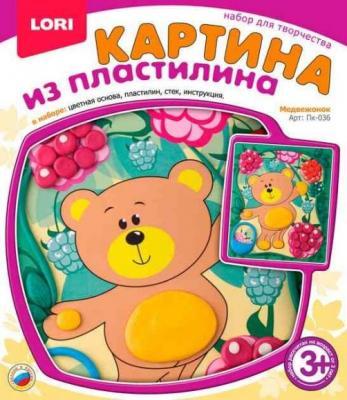 Картина из пластилина Медвежонок