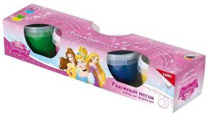 Набор для лепки Lori Disney Принцессы 4 цвета Птд-001 lori набор для детского творчества радужный песок принцессы disney 4 цвета