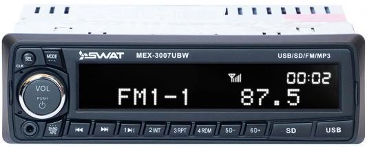 Автомагнитола Swat MEX-3007UBW 1DIN 4x50Вт автомагнитола swat mex 1033ubg 1din 4x50вт