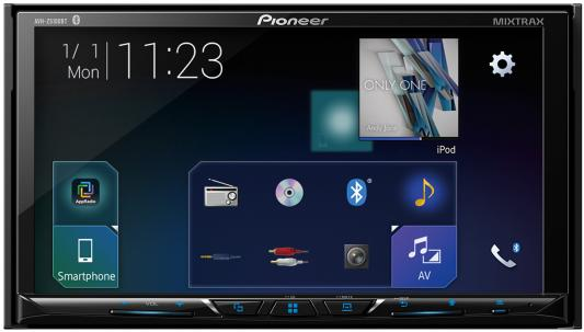 Автомагнитола CD DVD Pioneer AVH-Z5100BT 2DIN 4x50Вт ПО:Waze автомагнитола cd dvd pioneer avh a200bt 2din 4x50вт