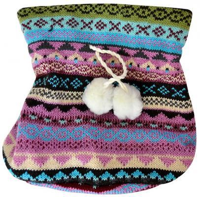 Мешок для подарков ЖАККАРД ТЕМНЫЙ, 17*20 см, полиэстр, 1 шт в пакете