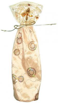 Фото - Мешок для подарков золотистый с блестками, 38 см, 1 вид мешок для подарков winter wings мешок 33 см