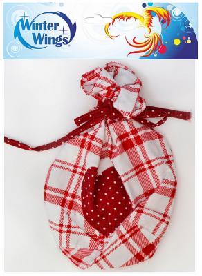 Мешок для подарков КЛЕТКА, 11*17 см, полиэстр, 1 шт в пакете