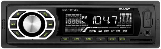 Автомагнитола Swat MEX-1011UBG 1DIN 4x35Вт автомагнитола swat mex 1013ubw 1din 2x35вт