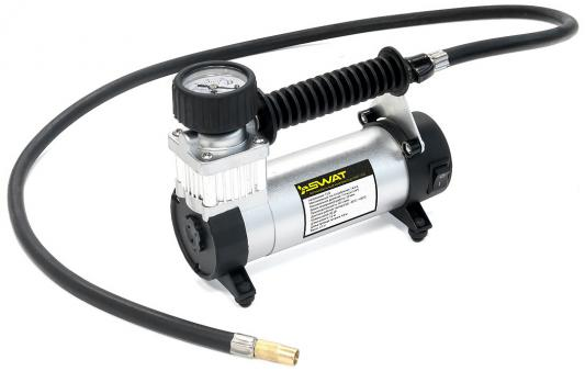 Автомобильный компрессор Swat SWT-102 40л/мин шланг 1м автомобильный компрессор swat swt 106 60л мин шланг 1м