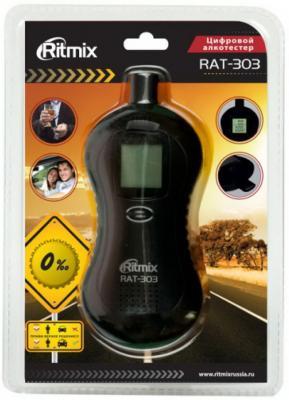 Алкотестер Ritmix RAT-303 полупроводниковый черный алкотестер расчет