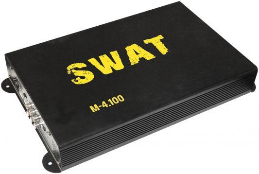 Усилитель автомобильный Swat M-4.100 четырехканальный усилитель автомобильный swat m 2 120 двухканальный