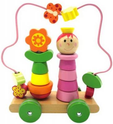 Купить Лабиринт-пирамидка Девочка на колесиках, Mapacha, Развивающие центры для малышей