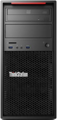 ПК Lenovo ThinkStation P320 MT Xeon E3 1225v6 (3.3)/8Gb/1Tb 7.2k/P600 2Gb/DVDRW/CR/Windows 10 Professional/GbitEth/250W/черный пк hp z640 xeon e5 2630v4 16gb ssd256gb dvdrw cr w7pro64 w10pro kb m черный [t4k61ea]
