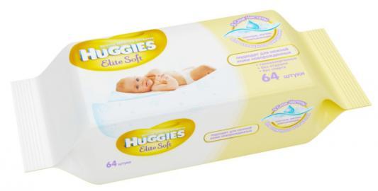 Салфетки влажные Huggies Элит Софт детские 64 шт 2398194 huggies влажные салфетки детские элит софт дуо без отдушек 128 шт уп 5 упаковок