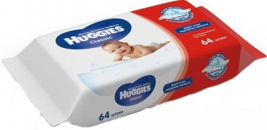 Салфетки влажные Huggies Classic детские 64 шт 2398564 merries детские влажные салфетки merries flushable 64 шт запасной блок