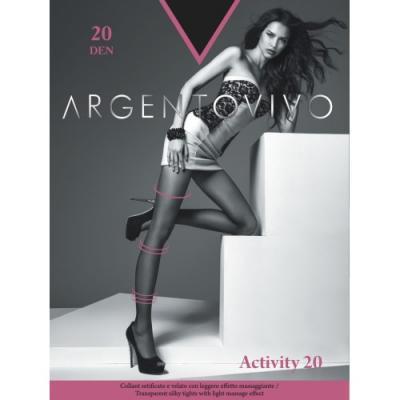 Argentovivo Колготки Activity 20 Nero, 2 колготки argentovivo activity 5 40 den черный