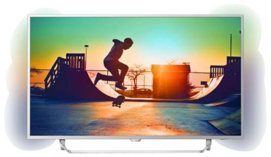 Телевизор LED Philips 49 49PUS6412/12 серебристый/Ultra HD/900Hz/DVB-T/DVB-T2/DVB-C/USB/WiFi/Smart TV (RUS) телевизор lcd 49 philips 49pft5501 60