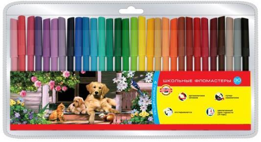 Набор фломастеров школьных SELFIES, 30 цветов, блистер