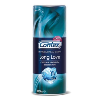 CONTEX Гель-смазка интимный Plus Long Love с охлаждающим эффектом 100мл anoe anal pflegespray 30мл анальная смазка спрей с охлаждающим эффектом