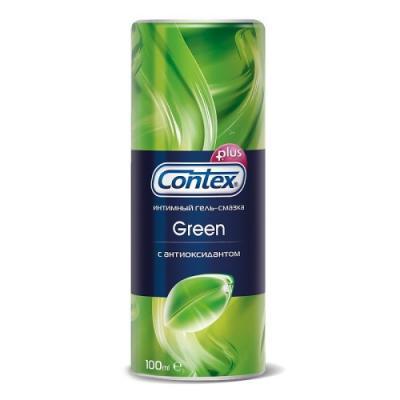 CONTEX Гель-смазка интимный Plus Green с антиоксидантами 100мл contex green 100 мл лубрикант с антибактериальным эффектом