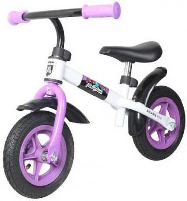 "Беговел Moby Kids KidRun 10 10"" бело-фиолетовый 641167"
