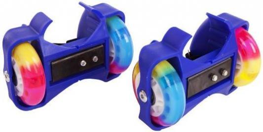 Ролики 2кол., свет, син. ролики action ролики раздвижные