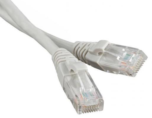 Патч-корд RJ45 - RJ45, 4 пары, UTP, категория 6, 1 м, серый, LSZH, LANMASTER LAN-PC45/U6-1.0-GY rj45 network internet lan connector adapter extender injector for mini dual interfaces