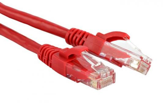 Патч-корд RJ45 - RJ45, 4 пары, UTP, категория 6, 5 м, красный, LSZH, LANMASTER LAN-PC45/U6-5.0-RD патч корд rj45 rj45 4 пары utp категория 6 5 м серый lszh lanmaster lan pc45 u6 5 0 gy