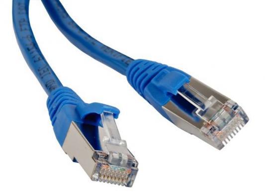 Патч-корд RJ45 - RJ45, 4 пары, FTP, категория 5е, 1.5 м, синий, LSZH, LANMASTER LAN-PC45/S5E-1.5-BL rj45 network internet lan connector adapter extender injector for mini dual interfaces