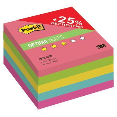 Бумага для заметок с липким слоем POST-IT OPTIMA Лето плюс, 76х76 мм, неоновая радуга, 5 цв, 500 л. неоновая продукция yht 1m 1 5