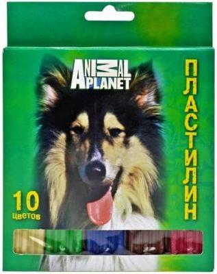 Пластилин ACTION! ANIMAL CLUB INT., 10 цв, 200 гр, карт. уп. с европодвесом
