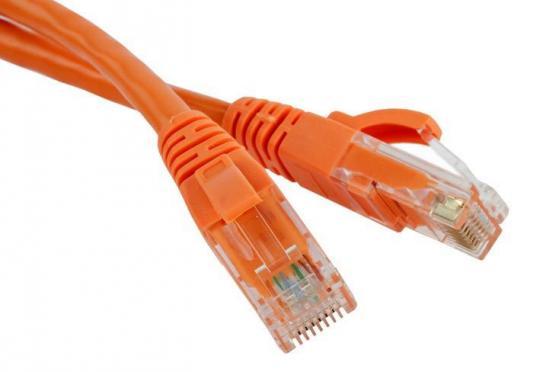 Патч-корд RJ45 - RJ45, 4 пары, UTP, категория 5е, 7 м, оранжевый, LANMASTER LAN-45-45-7.0-OR rj45 network internet lan connector adapter extender injector for mini dual interfaces