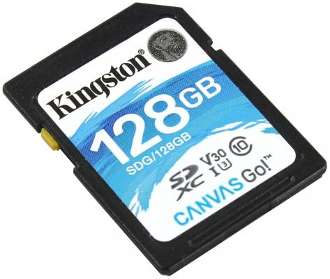 Флеш карта SDXC 128Gb Class10 Kingston SDG/128GB Canvas Go original kingston 128gb sdxc card