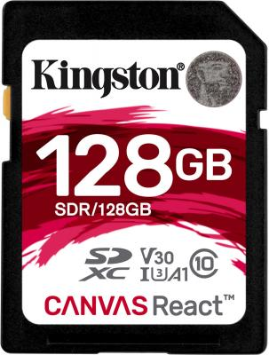 Флеш карта SDXC 128Gb Class10 Kingston SDR/128GB Canvas React original kingston 128gb sdxc card