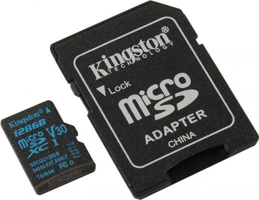 Флеш карта microSDXC 128Gb Class10 Kingston SDCG2/128GB Canvas Go + adapter