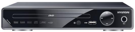 Плеер DVD Hyundai H-DVD200 черный Караоке ПДУ плеер hyundai h dvd100 black