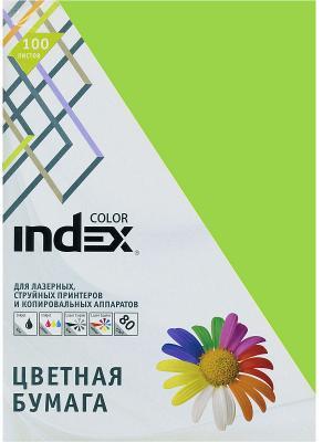 Цветная бумага Index Color IC66/100 A4 100 листов салатовый цветная бумага index color a4 100 листов icmixpastel 4х25 100