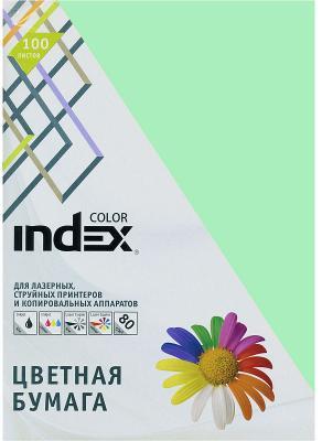 Цветная бумага Index Color IC65/100 A4 100 листов светло-зеленый цветная бумага index color a4 100 листов icmixpastel 4х25 100
