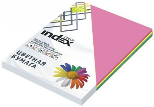 Бумага цветная, Index Color, 80гр, А4, 5х50 (55,85,93,59,45), 250л игровой набор peppa pig особняк семьи пеппы с 3 фигурками 35360
