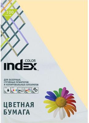 Цветная бумага Index Color IC13/100 A4 100 листов кремовый цветная бумага index color a4 100 листов icmixpastel 4х25 100