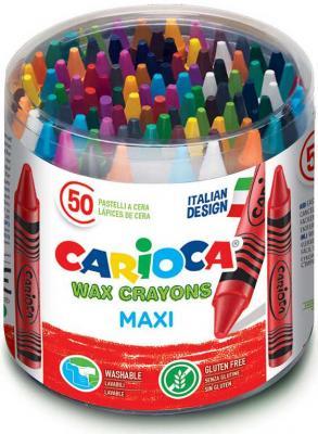 Набор крупных восковых мелков WAX CRAYONS MAXI, пластиковый бокс, 50 шт. набор восковых мелков 12 цветов wax crayons 42365