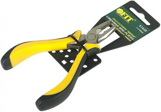 Плоскогубцы FIT 51632 мини черно-желтая мягкая ручка никел.антикор.покрытие плоскогубцы fit 50628