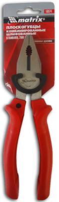 Плоскогубцы MATRIX 16974 standard 200мм комбинированные шлифованные пластмассовые рукоятки плоскогубцы sturm 1020 01 1 200 особо прочные губки 2 компонентн рукоятки 200мм profi