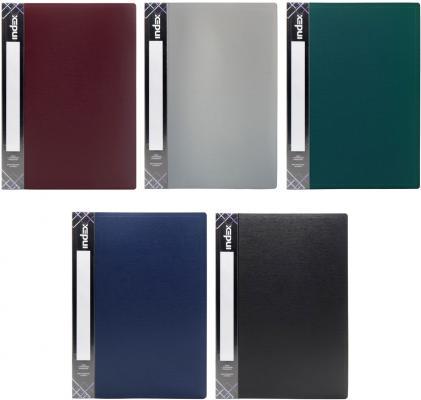 Папка с 80 файлами SATIN, форзац, ф.A4, 0,7мм, ассорти, динамичная упаковка 10B80/11/ASS папка с 20 файлами форзац ф а4 ассорти sdb20 ass spec 1