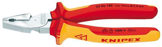 Плоскогубцы KNIPEX KN-0206180 силовые 1000 V ручной обжимник knipex kn 975314