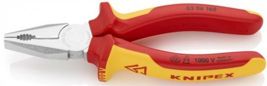 Пассатижи KNIPEX 0306160 1000V 160мм электротехнический. сталь инструментальная, закаленная бокорезы knipex kn 1426160