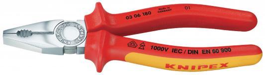 Пассатижи KNIPEX 0306180 1000V 180мм электротехнический. сталь инструментальная, закаленная бокорезы knipex kn 1426160