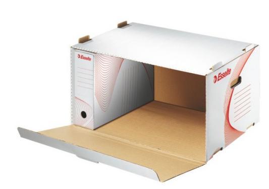 Короб архивный с откидной крышкой BOXY, 510x275x365 мм, белый недорго, оригинальная цена