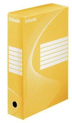 Короб архивный BOXY, 100 мм, 345х100х245 мм, желтый недорго, оригинальная цена