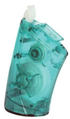 Корректирующий роллер Allcover TEC 2, с точилкой, прозрачный зеленый корпус, 8 м x 5 мм бисер preciosa drops прозрачный цвет зеленый 50430 5 0 50 г