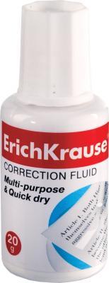 Корректирующая жидкость Erich Krause 13812 20 мл с губкой erich krause рюкзак школьный альянс мстители multi pack mini